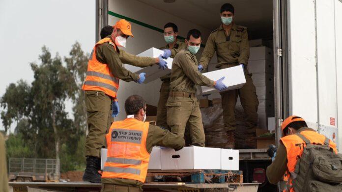 Heimatfrontkommando im Einsatz im April 2020. Foto IDF-Sprecher