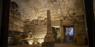 Überreste des prächtigen 2000 Jahre alten Gebäudes, das kürzlich ausgegraben wurde und als Teil der Westmauer-Tunneltour in Jerusalems Altstadt für die Öffentlichkeit zugänglich gemacht werden soll. Foto Yaniv Berman/Israel Antiquities Authority