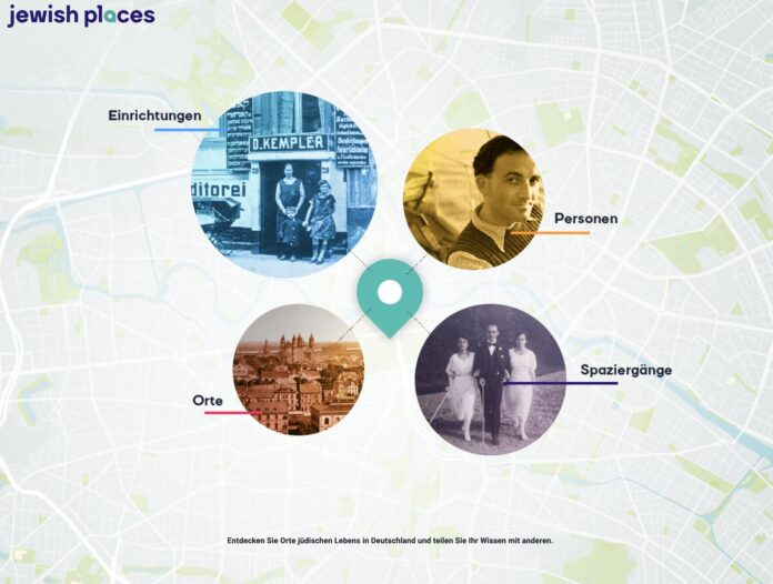 Foto Screenshot www.jewish-places.de