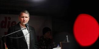 Björn Höcke (AFD) bei PEGIDA Dresden am 17.02.2020. Foto IMAGO / xcitepress