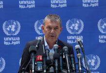 UNRWA-Generaldirektor Philippe Lazzarini spricht während einer Pressekonferenz in Gaza-Stadt am 23. Mai 2021. Foto IMAGO / ZUMA Wire
