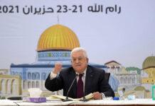 Der Palästinensische Präsident Mahmoud Abbas während einer Sitzung des Fatah Revolutionsrates in Ramallah am 21. Juni 2021. Foto IMAGO / ZUMA Wire