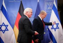 Der israelische Premierminister Naftali Bennett trifft sich mit dem deutschen Bundespräsidenten Frank-Walter Steinmeier in Jerusalem, am 1. Juli 2021. Foto IMAGO / Xinhua