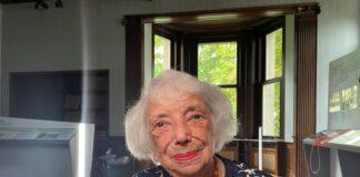 Holocaust-Überlebende Margot Friedländer, Jahrgang 1921, im Haus der Wannsee-Konferenz in Berlin vor ihrem Interview für die Dokumentation von Jörg Müllner. Foto ZDF/Jörg Müllner