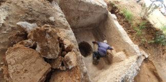 Freilegung einer antiken Weinpresse in Ramat Hasharon. Foto Yoli Schwartz/Israelische Altertumsbehörde