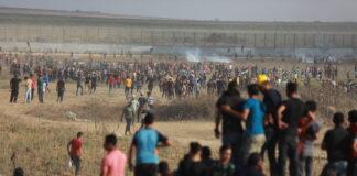 Ausschreitungen an der Grenze zwischen Israel und Gaza östlich von Gaza-Stadt am 21. August 2021. Foto Majdi Fathi/TPS