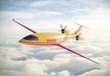 Das Flugzeug Alice von Eviation Aircraft für DHL kann 1200 Kilogramm transportieren. Foto Eviation
