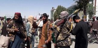 Taliban-Kämpfer in der Stadt Ghazni im Osten Afghanistans. Foto IMAGO / Xinhua