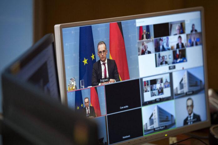 Heiko Maas, deutscher Bundesaussenminister, aufgenommen im Rahmen einer Videokonferenz der G7 zu Afghanistan. Berlin, 19.08.2021. Foto IMAGO / photothek