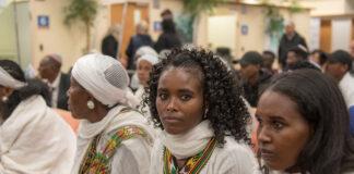 Jüdische Neueinwanderer aus Äthiopien auf dem Ben-Gurion-Flughafen. Foto Kobi Richter/TPS