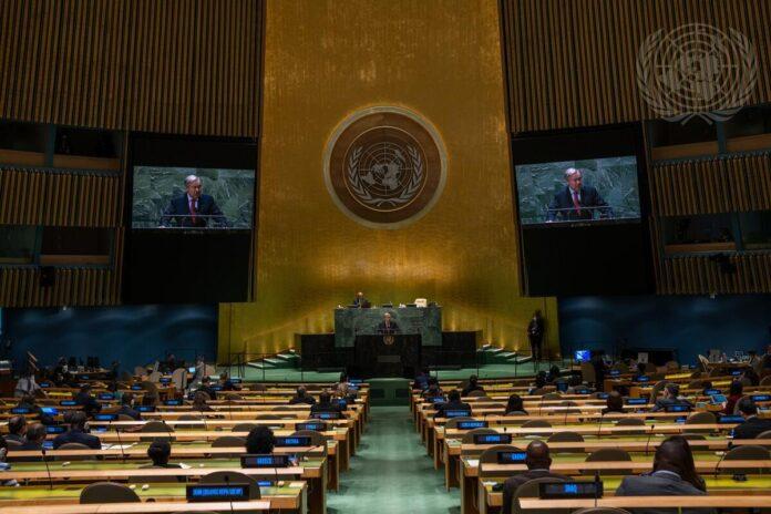 UN-Generalversammlung gedenkt des 20. Jahrestages der Verabschiedung der Erklärung und des Aktionsprogramms von Durban. 22. September 2021, New York. Foto UN Photo/Cia Pak