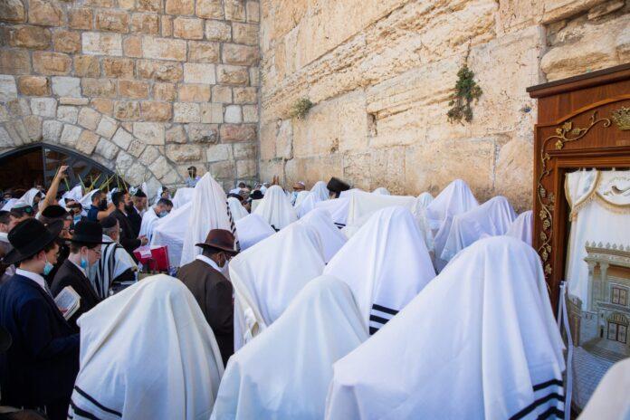 Birkat Kohanim an der Kotel 2021. Foto Shalev Shalom/TPS