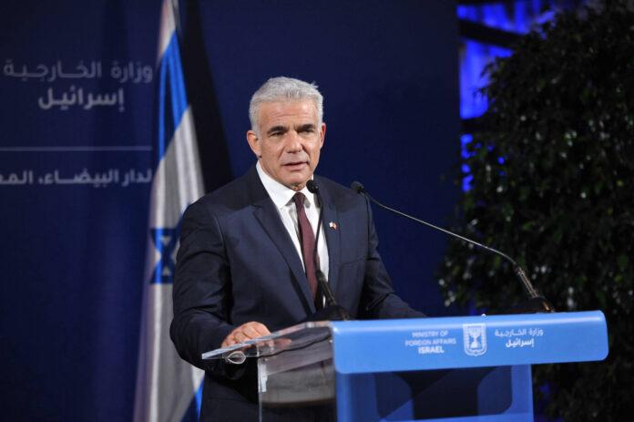 Israels Aussenminister Yair Lapid. Foto IMAGO / Xinhua