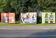 Wahlplakate zur Bundestagswahl 2021 am 31.08.2021 in Oberhausen. Foto IMAGO / Revierfoto