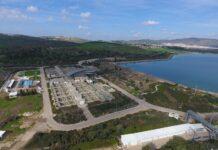 """Eines der grössten Wasserreservoirs der Israel Water Company ist das """"Eshkol Reservoir"""". Foto Gal Ben David, תמונת רחפן, צולמה על ידי גל בן דוד, CC BY-SA 4.0, https://commons.wikimedia.org/w/index.php?curid=75873945"""