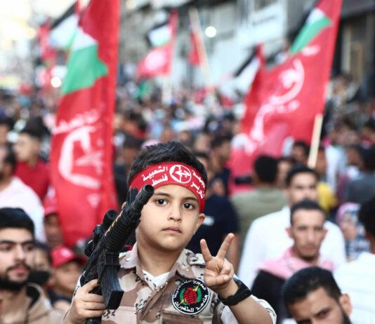 Kundgebung der Volksfront für die Befreiung Palästinas (PFLP) am 2. Juni 2021 in Gaza-Stadt. Foto IMAGO / ZUMA Wire