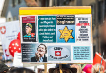 18. September 2021: In der Zürcher Stadt Winterthur demonstrierten mehrere Tausend Menschen gegen das Covid-Zertifikat. Foto IMAGO / Andreas Haas